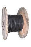 Bobina con el cable eléctrico de la potencia Fotografía de archivo