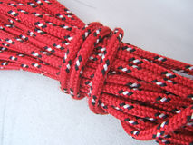 Bobina da corda vermelha Imagens de Stock Royalty Free