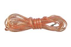 Bobina de cable audio del doble-conductor stock de ilustración