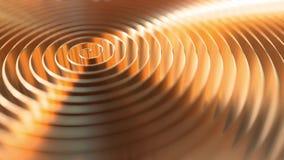 Bobina de cobre, foco bajo Fondo del movimiento de Loopable almacen de metraje de vídeo