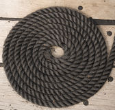 Bobina de corda do navio de navigação Imagem de Stock