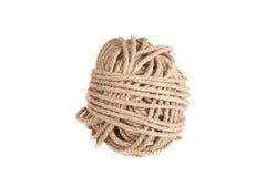 Bobina de la cuerda aislada en un fondo blanco Foto de archivo