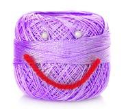 Bobina de la cuerda de rosca con sonrisa Fotos de archivo libres de regalías
