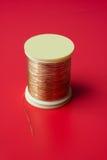 Bobina de la cuerda de rosca de oro Fotos de archivo libres de regalías