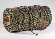 Bobina de la cuerda en el fondo blanco Fotografía de archivo libre de regalías