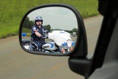 Bobina de motocicleta da polícia Fotografia de Stock Royalty Free