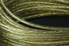 Bobina de oro del alambre Fotos de archivo libres de regalías
