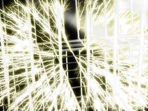 Bobina de Tesla - fondo del alambre Fotografía de archivo