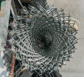 Bobina del alambre de púas Fotografía de archivo