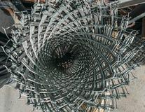Bobina del alambre de púas Imagen de archivo
