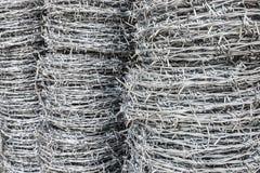 Bobina del alambre de púas para la venta Imagen de archivo libre de regalías