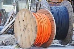 Bobina del cable Foto de archivo libre de regalías