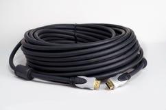 Bobina del cable de HDMI Imágenes de archivo libres de regalías