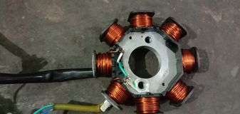 Bobina del motor de la armadura foto de archivo libre de regalías