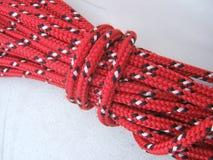 Bobina della corda rossa Immagini Stock Libere da Diritti