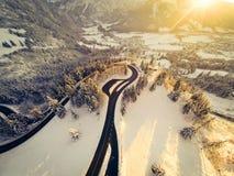 Bobina della strada della montagna attraverso le alpi tedesche Immagine Stock Libera da Diritti