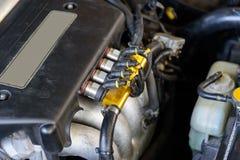 Bobina di accesione del motore di automobile fotografia stock libera da diritti