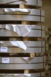 Bobina di acciaio inossidabile Immagini Stock