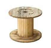 Bobina di cavo di legno Fotografie Stock Libere da Diritti