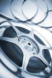Bobina di film con la pellicola fotografie stock