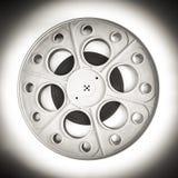 Bobina di film del cinema del teatro per il film di 35mm in bianco e nero Fotografia Stock