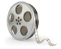 Bobina di pellicole di film con la pellicola Immagini Stock