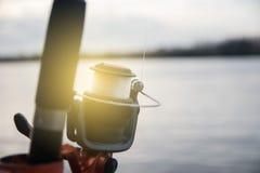 Bobina di pesca Immagini Stock