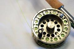 Bobina di pesca di mosca Fotografie Stock Libere da Diritti