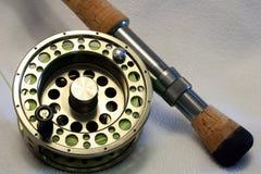 Bobina di pesca di mosca Fotografia Stock