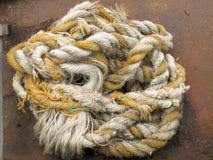 Bobina di vecchia corda Fotografia Stock Libera da Diritti