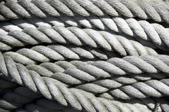 Bobina di vecchia corda Immagini Stock Libere da Diritti