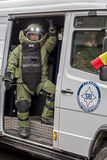 Bobina do esquadrão da morte que simula uma missão Fotografia de Stock