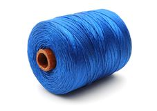 Bobina grande de la cuerda de rosca azul Fotografía de archivo libre de regalías