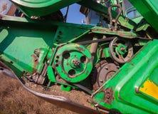 Bobina nel primo piano dell'associazione Parte della macchina agricola Fotografia Stock Libera da Diritti