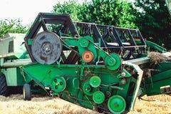 Bobina nella mietitrebbiatrice Parte della macchina agricola Raccolta Immagine Stock Libera da Diritti
