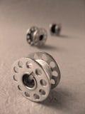 bobina per la macchina per cucire (macro) fotografie stock libere da diritti