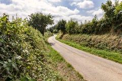 Bobina rurale del vicolo del paese nella distanza fotografia stock