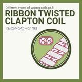 Bobina vaping del ejemplo del vector Parte del sistema grande Clapton torcido cinta Fotografía de archivo
