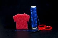 Bobina y aguja del hilo Fotografía de archivo libre de regalías