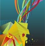 Bobinadores de cintas en modo continuo abstractos coloridos Imagen de archivo libre de regalías