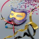 Bobinadores de cintas en modo continuo de la máscara del carnaval Imagenes de archivo
