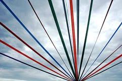 Bobinadores de cintas en modo continuo en el cielo Imágenes de archivo libres de regalías