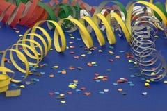 Bobinadores de cintas en modo continuo y confeti Fotografía de archivo