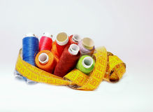 Bobinas coloreadas imagen de archivo