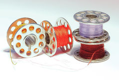 Bobinas coloreadas Foto de archivo libre de regalías