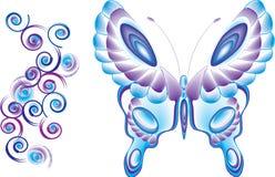 Bobinas de la mariposa ilustración del vector