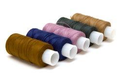 Bobinas de las cuerdas de rosca del color Foto de archivo libre de regalías