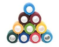 Bobinas de las cuerdas de rosca del color fotografía de archivo libre de regalías