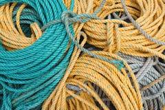 Bobinas de las cuerdas del envío Foto de archivo libre de regalías