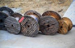 Bobinas de madeira Fotos de Stock